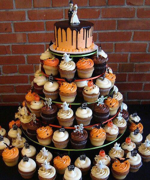 Halloween Themed Cupcakes  Halloween themed weddings