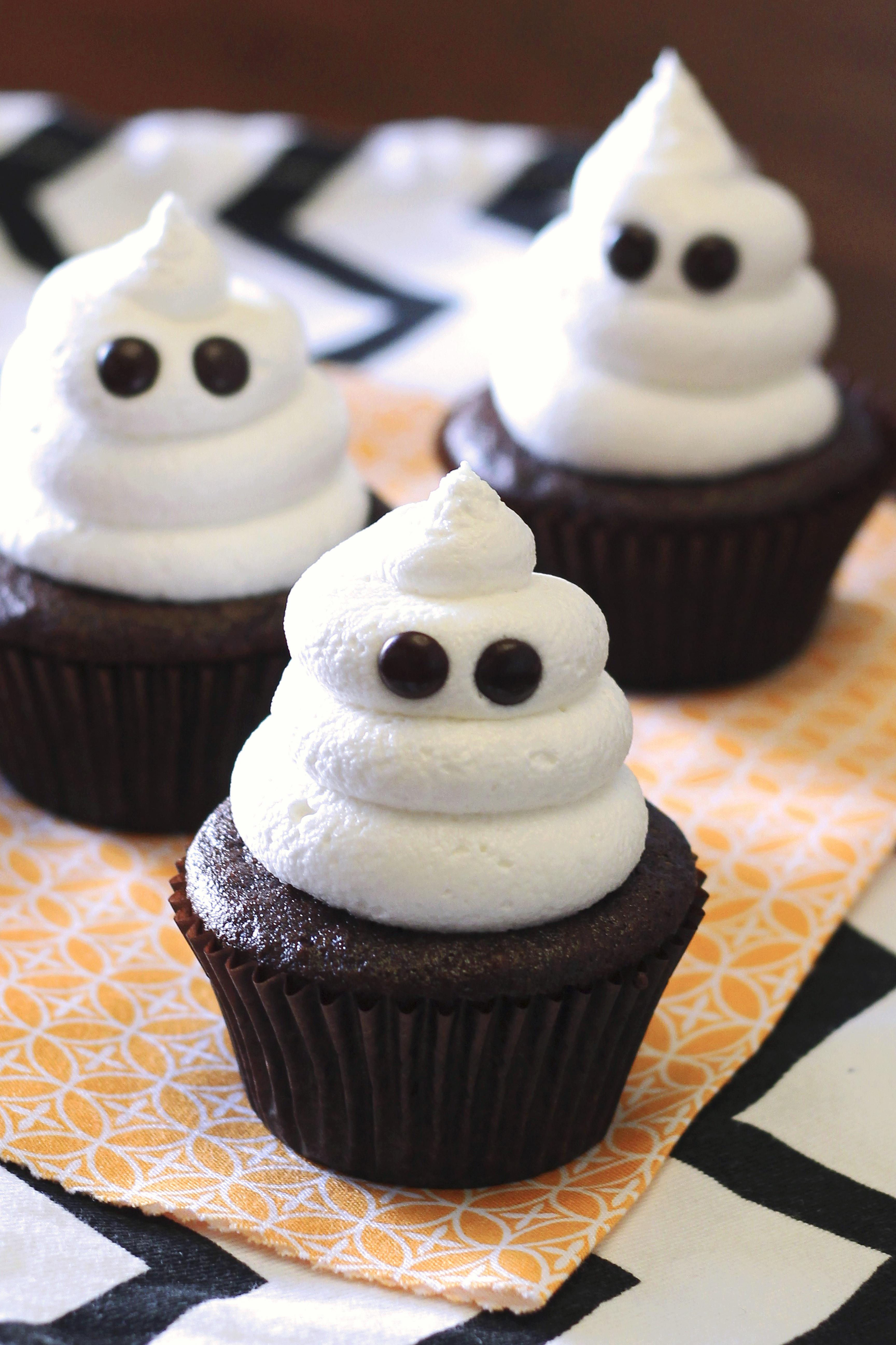 Halloween Themed Cupcakes  gluten free vegan ghost cupcakes Sarah Bakes Gluten Free