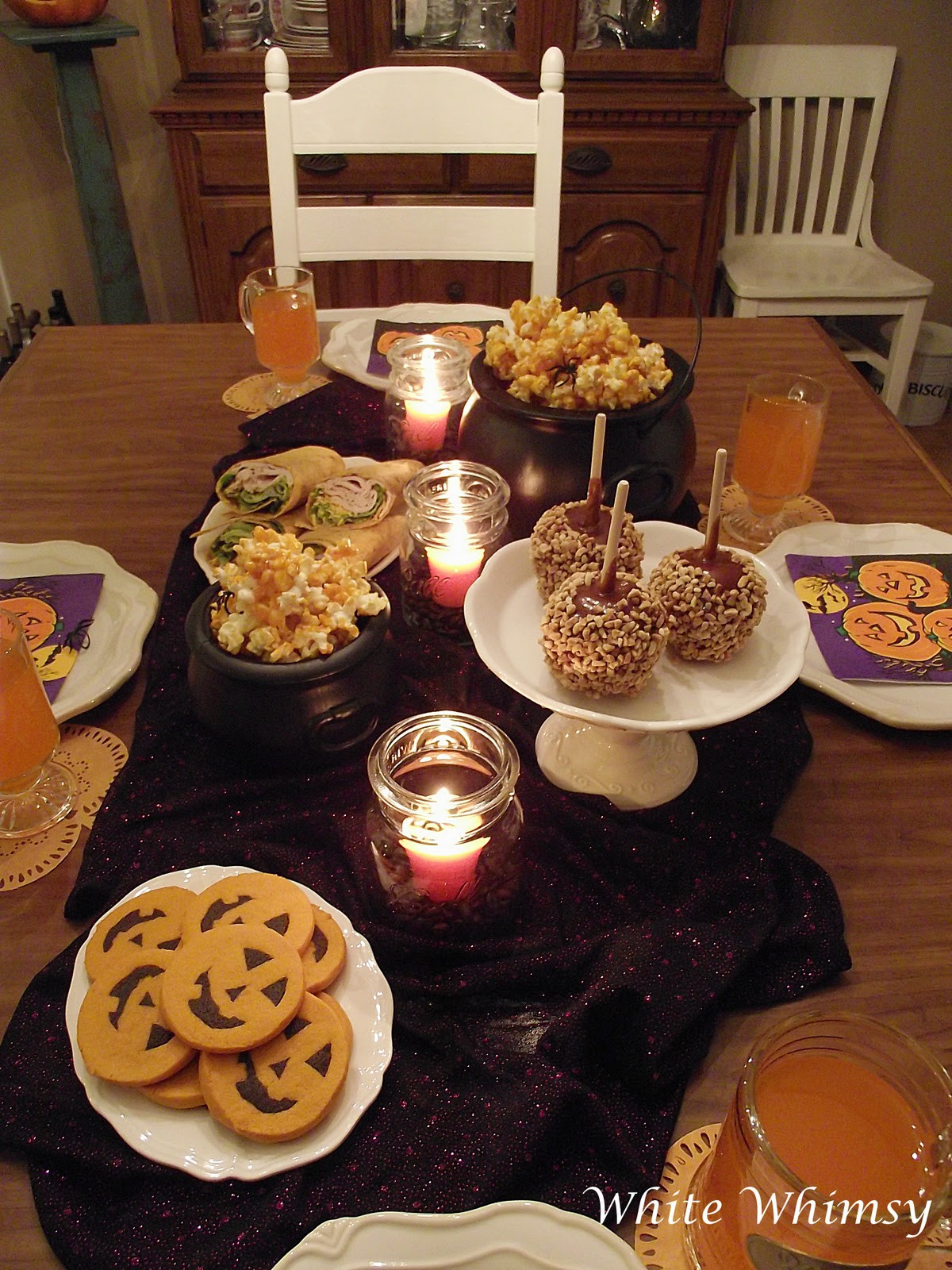 Halloween Themed Dinner  White Whimsy A Fun Halloween Meal