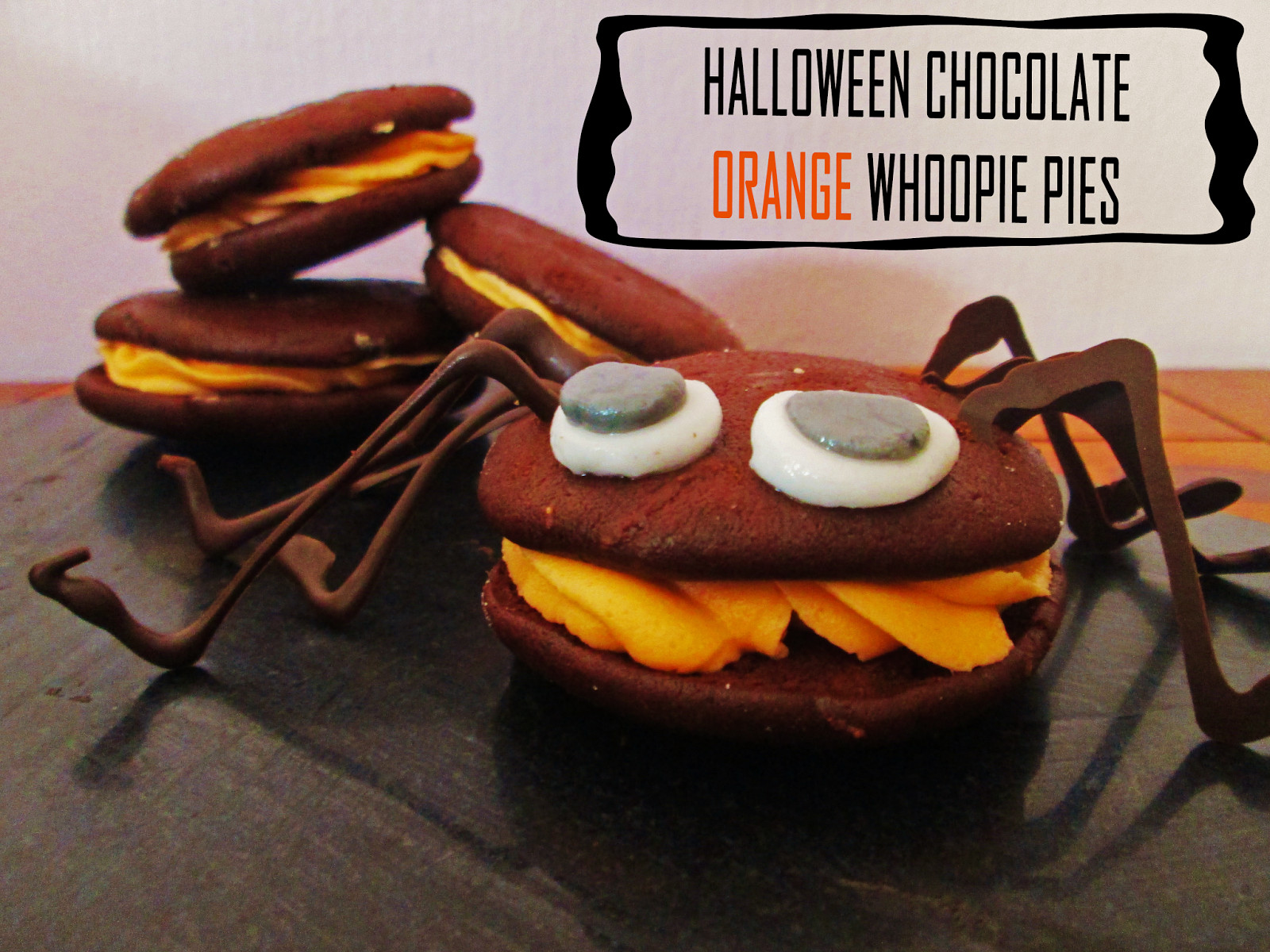 Halloween Whoopie Pies  THE MESSY KITCHEN CHOCOLATE ORANGE WHOOPIE PIES