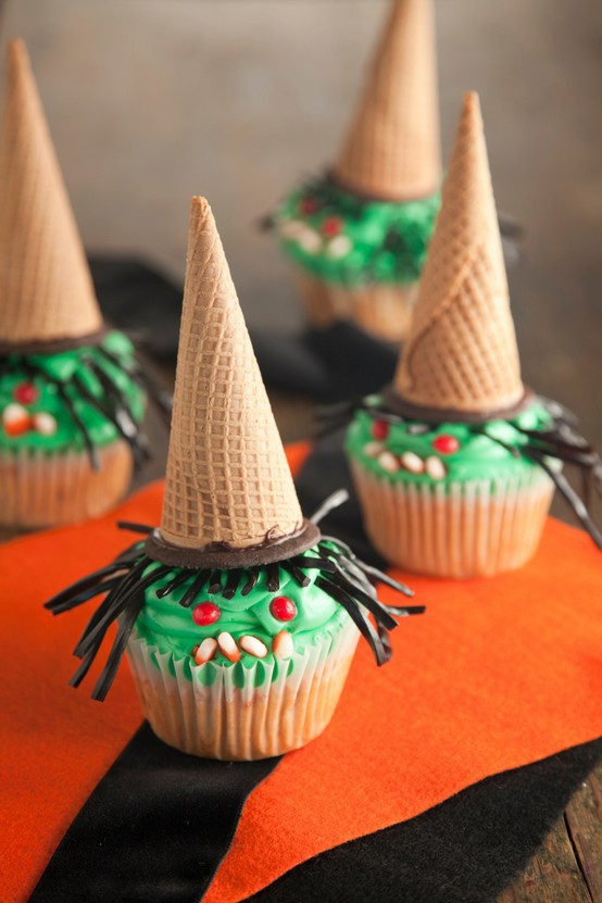 Halloween Witch Cupcakes  one pretty SPOOKY pin Witch cupcakes