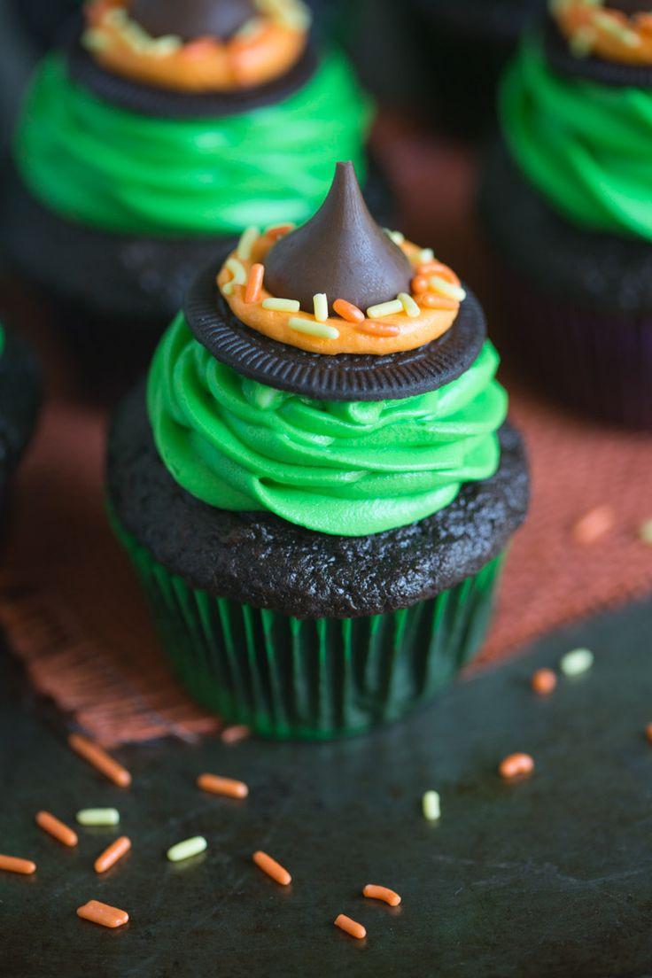 Halloween Witch Cupcakes  Best 25 Halloween cupcakes ideas on Pinterest