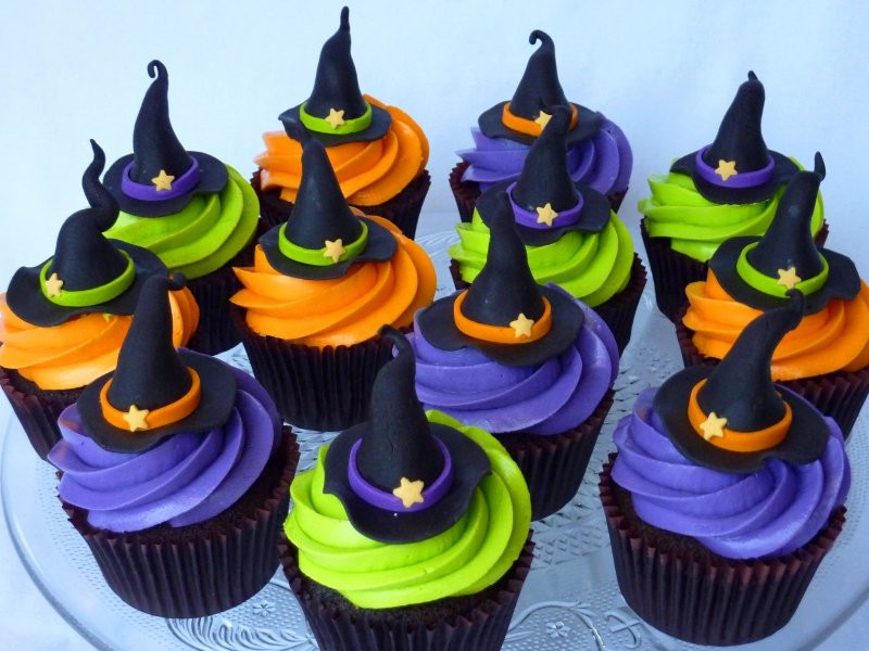 Halloween Witch Cupcakes  Halloween Muffins Recipe Witch Hat Cupcakes