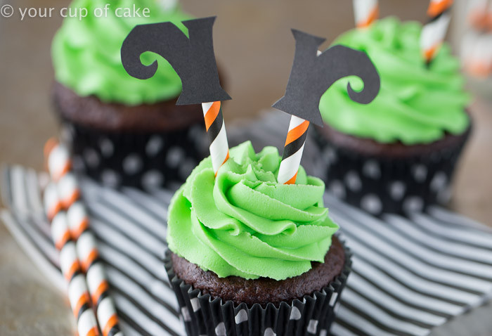Halloween Witch Cupcakes  Wicked Witch Cupcakes Your Cup of Cake