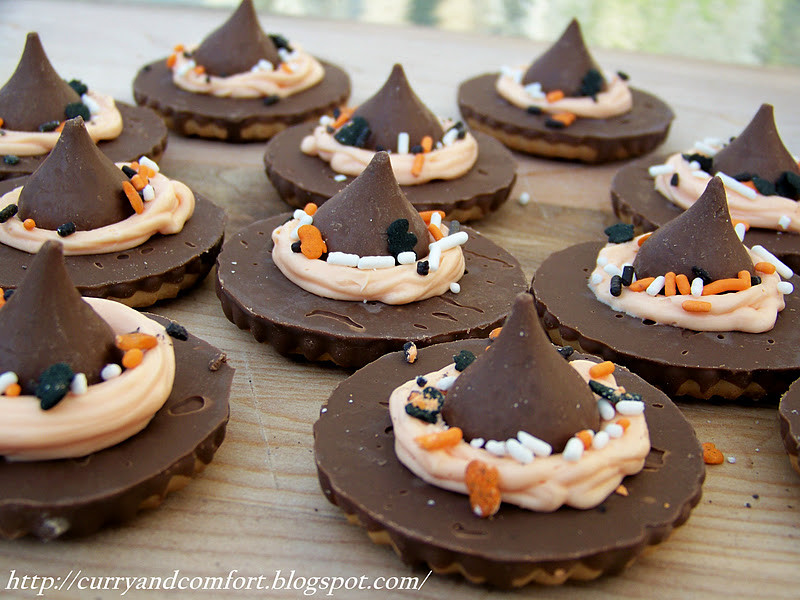 Halloween Witches Hats Cookies  Kitchen Simmer Halloween Witch s Hat Cookies