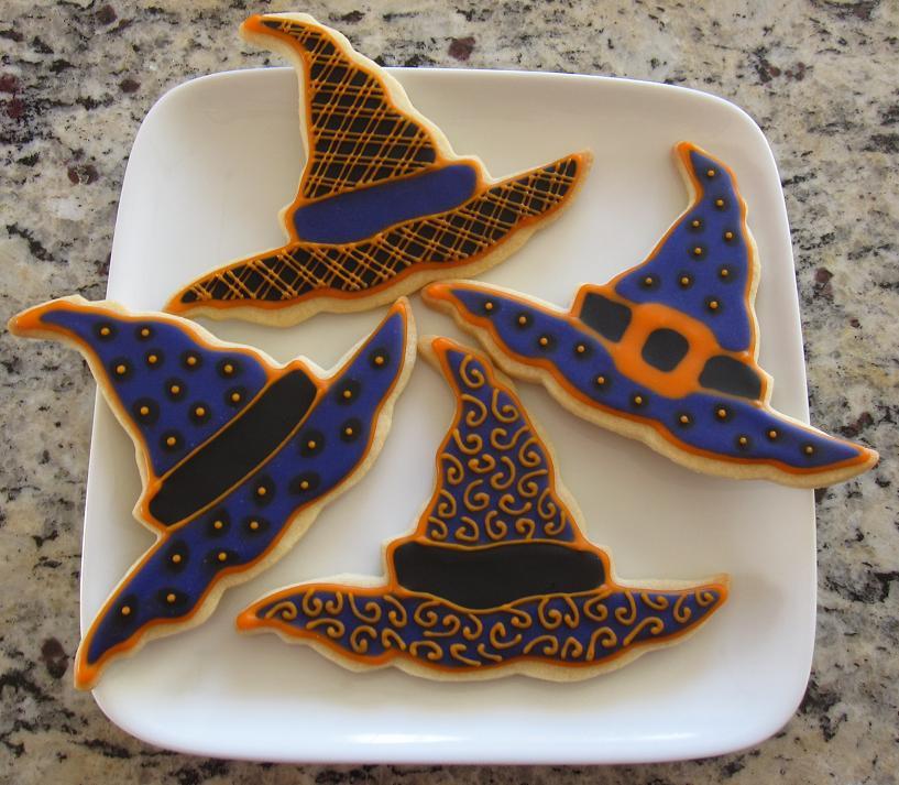 Halloween Witches Hats Cookies  Doodlebug Cookies Happy Halloween