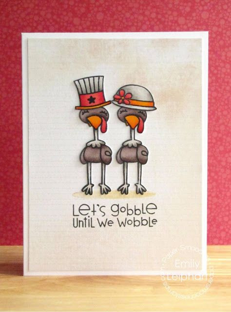 Happy Thanksgiving Jive Turkey  244 Best images about Paper Smooches Cards on Pinterest