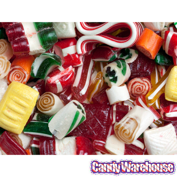 Hard Christmas Candy  Old Time Christmas Mix Candy 16 Ounce Tin