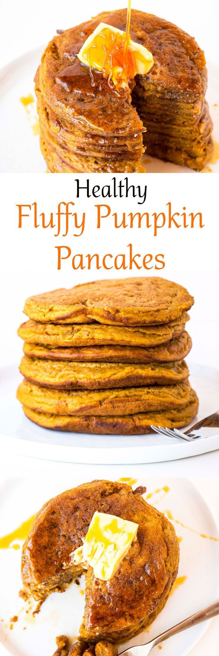 Healthy Fall Breakfast Recipes  1000 ideas about Healthy Pumpkin Pancakes on Pinterest