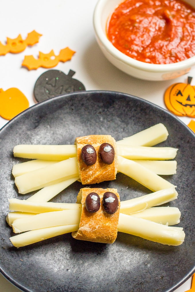 Healthy Halloween Party Snacks  Healthy Halloween spider snacks Family Food on the Table