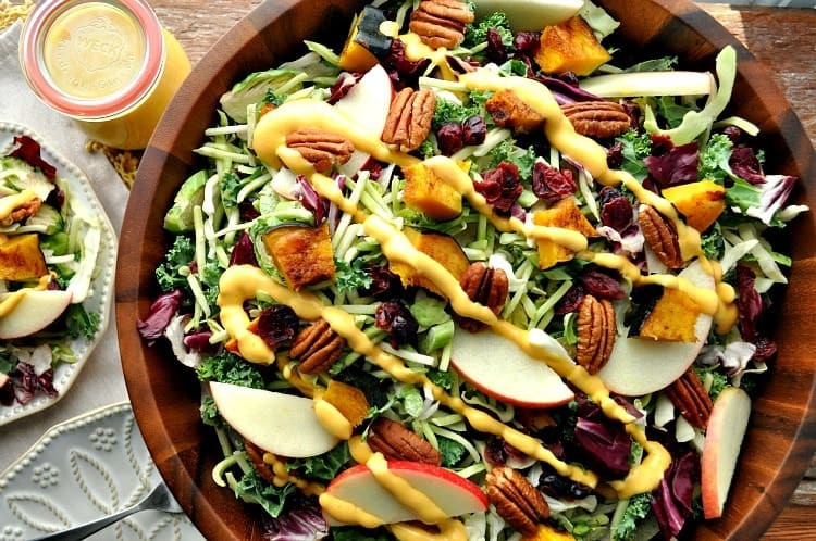 Healthy Stuffing Recipes For Thanksgiving  Healthy Thanksgiving Side Dish Fall Harvest Salad with