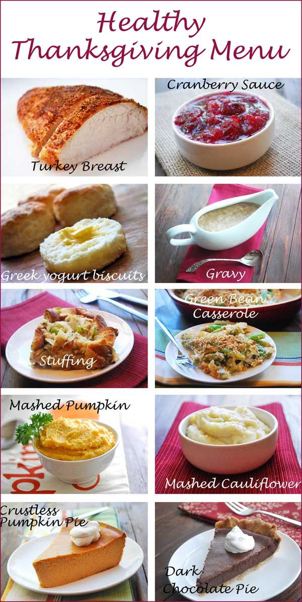 Healthy Thanksgiving Menu  1000 images about Healthy Thanksgiving Recipes on