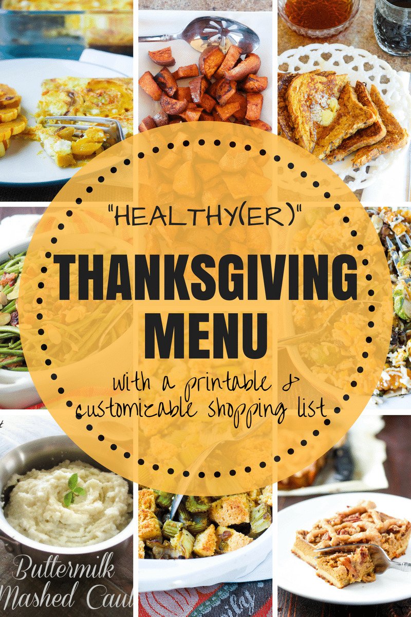 Healthy Thanksgiving Menu  Real Food Gluten Free Thanksgiving Menu with Shopping List