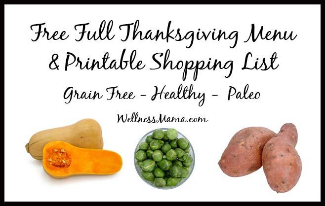 Healthy Thanksgiving Menu  Healthy Thanksgiving Menu & Shopping List