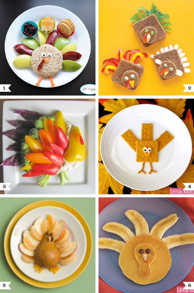 "Healthy Thanksgiving Snacks  Healthy ""turkey"" snacks and meals for kids"