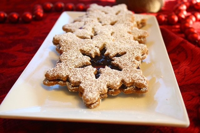 History Of Christmas Cookies  Linzer sables a Christmas jewel of a cookie