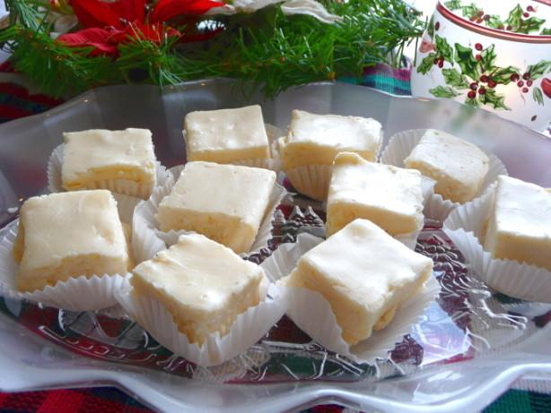 Holiday Fudge Recipes Christmas  White Christmas Holiday Eggnog Fudge Recipe Food