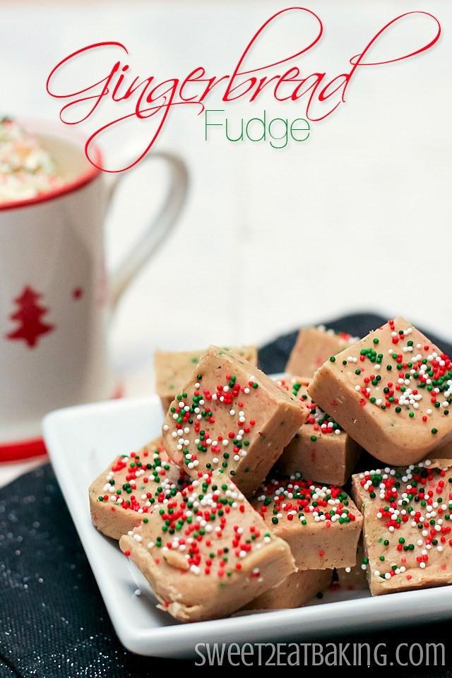 Holiday Fudge Recipes Christmas  Gingerbread Fudge Recipe