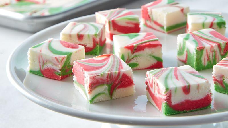 Holiday Fudge Recipes Christmas  3 Ingre nt Christmas Swirl Fudge Recipe BettyCrocker