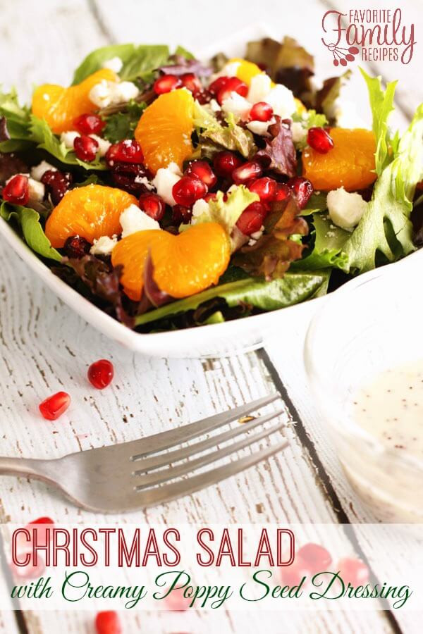 Holiday Salads Thanksgiving  Christmas Salad with Creamy Poppy Seed Dressing