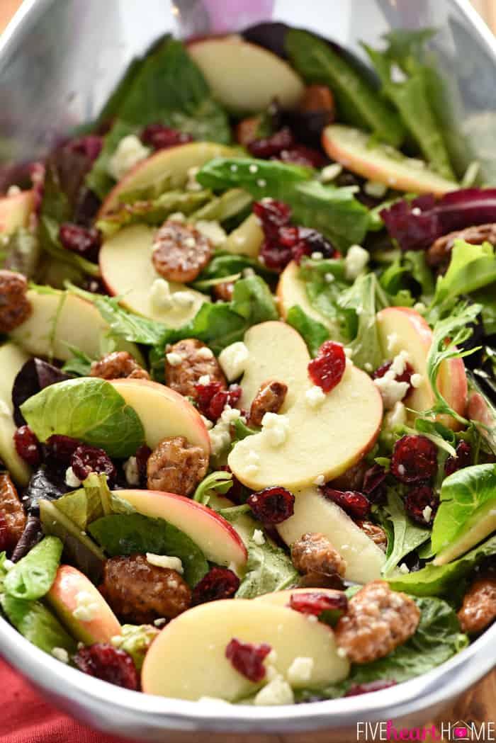 Holiday Salads Thanksgiving  Holiday Honeycrisp Salad • FIVEheartHOME