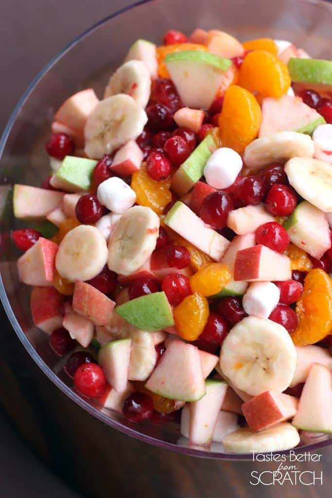 Holiday Salads Thanksgiving  Apple Cranberry Fruit Salad Tastes Better From Scratch