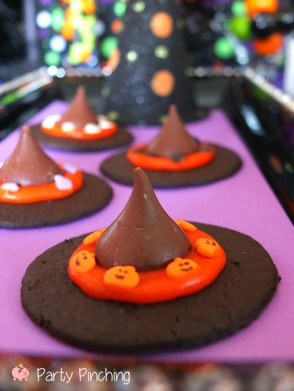 Home Made Halloween Cookies  Witch Hat Cookies Party Pinching