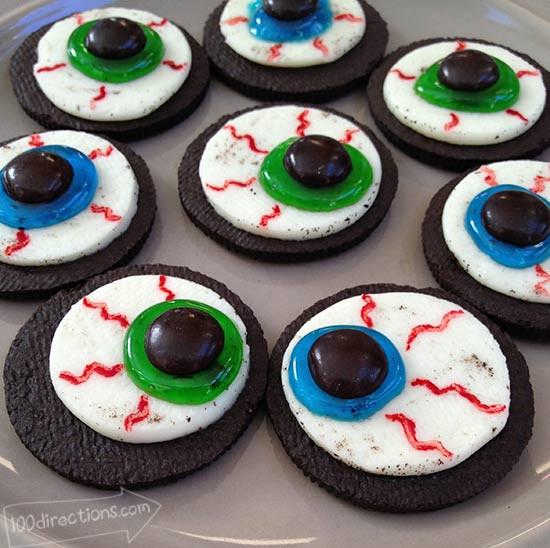 Home Made Halloween Cookies  OREO Cookie Eyeballs Halloween Treat DIY 100 Directions