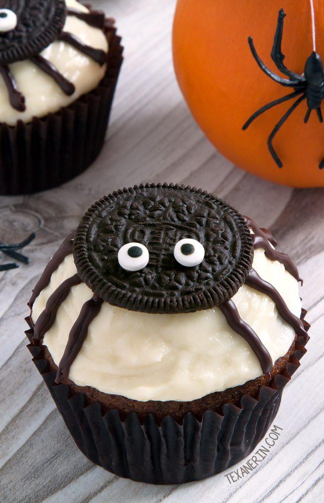Homemade Halloween Cakes  Spider Cupcakes for Halloween gluten free grain free