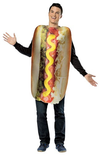 Hot Dog Halloween Costume For Dogs  Adult Get Real Loaded Hot Dog Costume