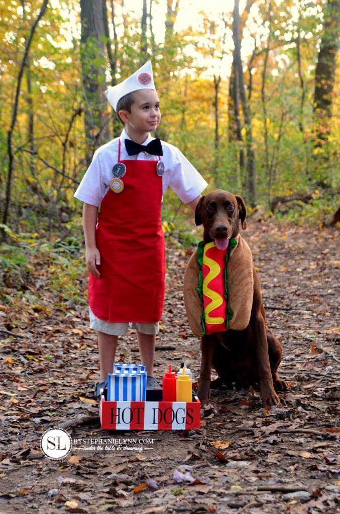 Hot Dog Halloween Costume For Dogs  Hot Dog Vendor Costume