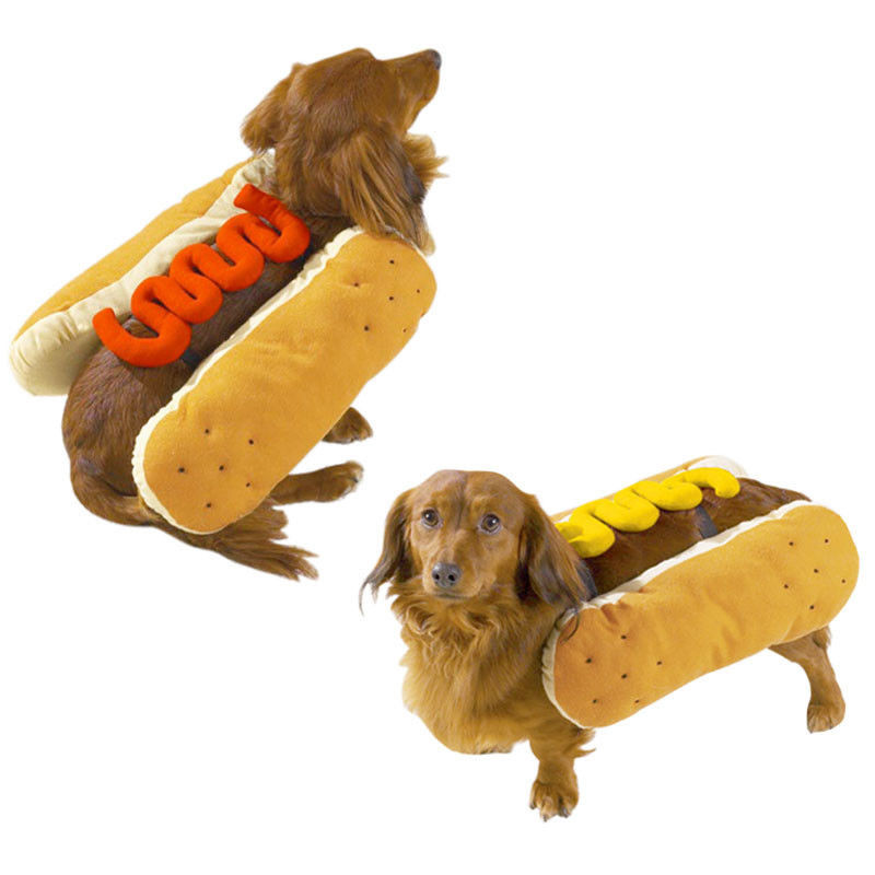 Hot Dog Halloween Costume For Dogs  Hot Diggity Dog Hot Dog Halloween Costume Choose Hotdog