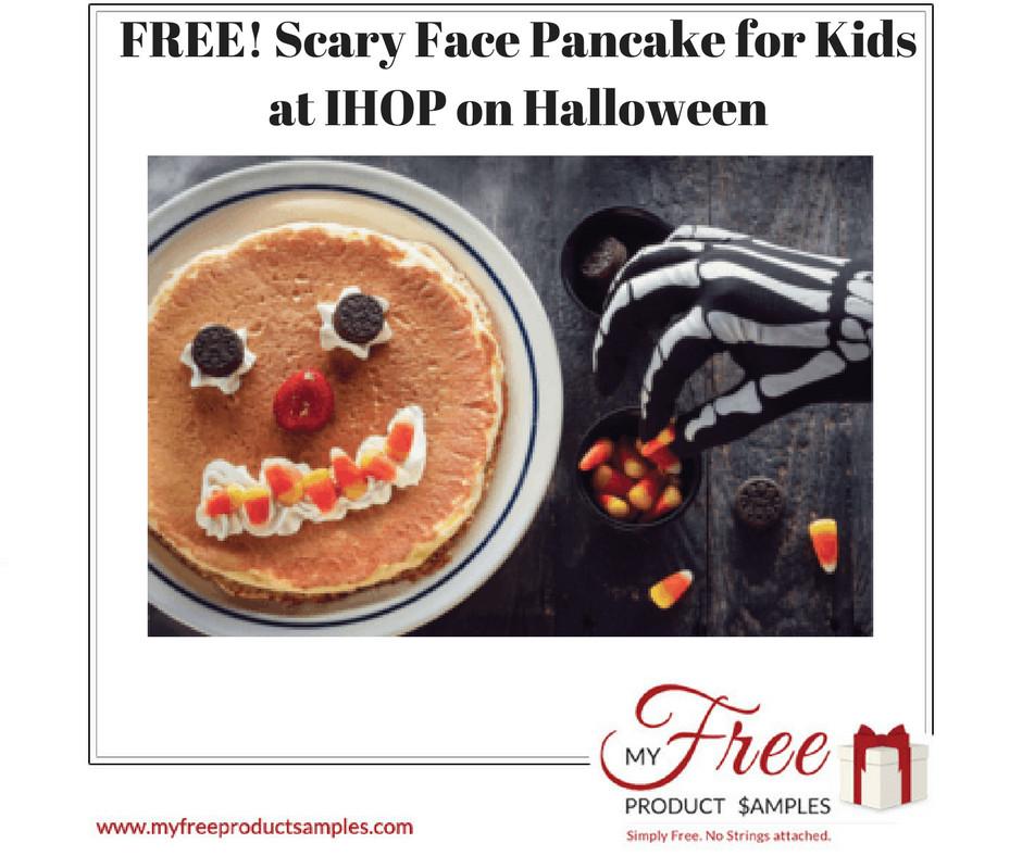 Ihop Free Pancakes Halloween  FREE Scary Face Pancake for Kids at IHOP on Halloween