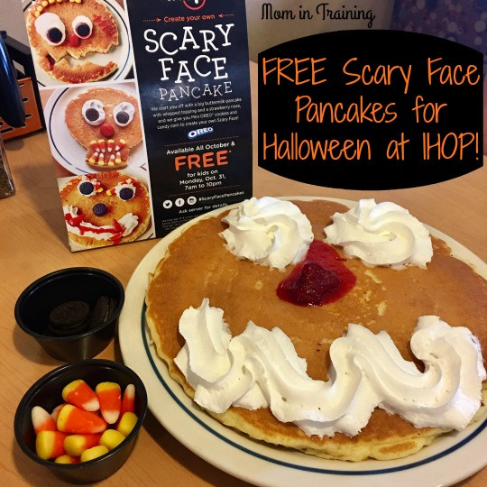 Ihop Free Pancakes Halloween  Stacy Tilton Reviews FREE Scary Face Pancakes for