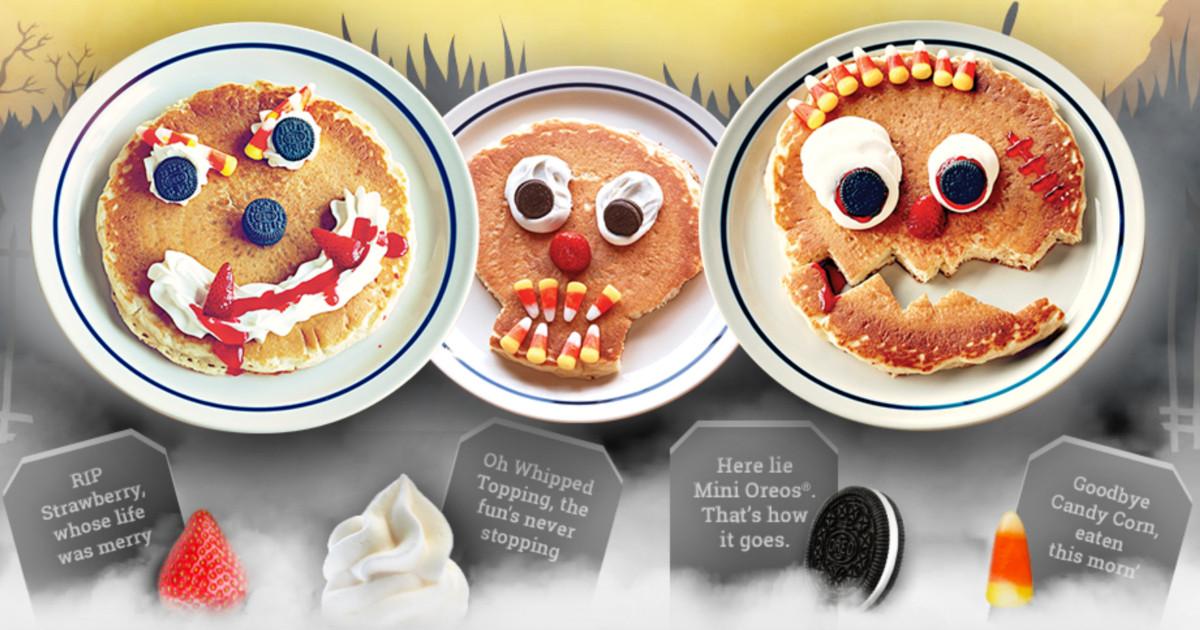 Ihop Free Pancakes Halloween  IHOP Free Scary Face Pancakes on Halloween Hip2Save