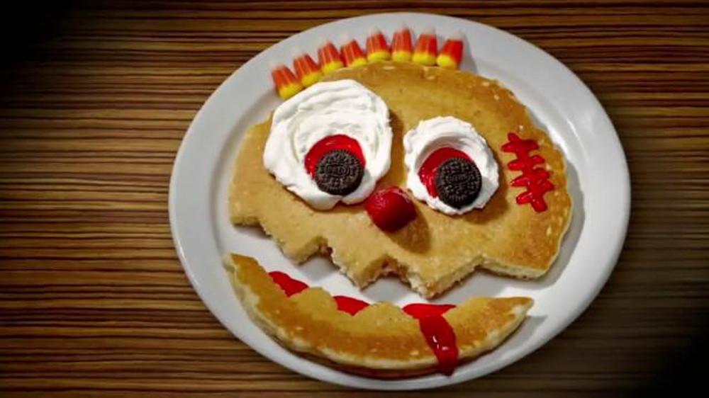 Ihop Free Pancakes Halloween  IHOP Free Scary Face Pancake TV mercial Halloween