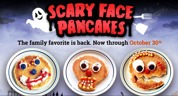 Ihop Free Pancakes Halloween  IHOP FREE Scary Face Pancakes for Kids on 10 30