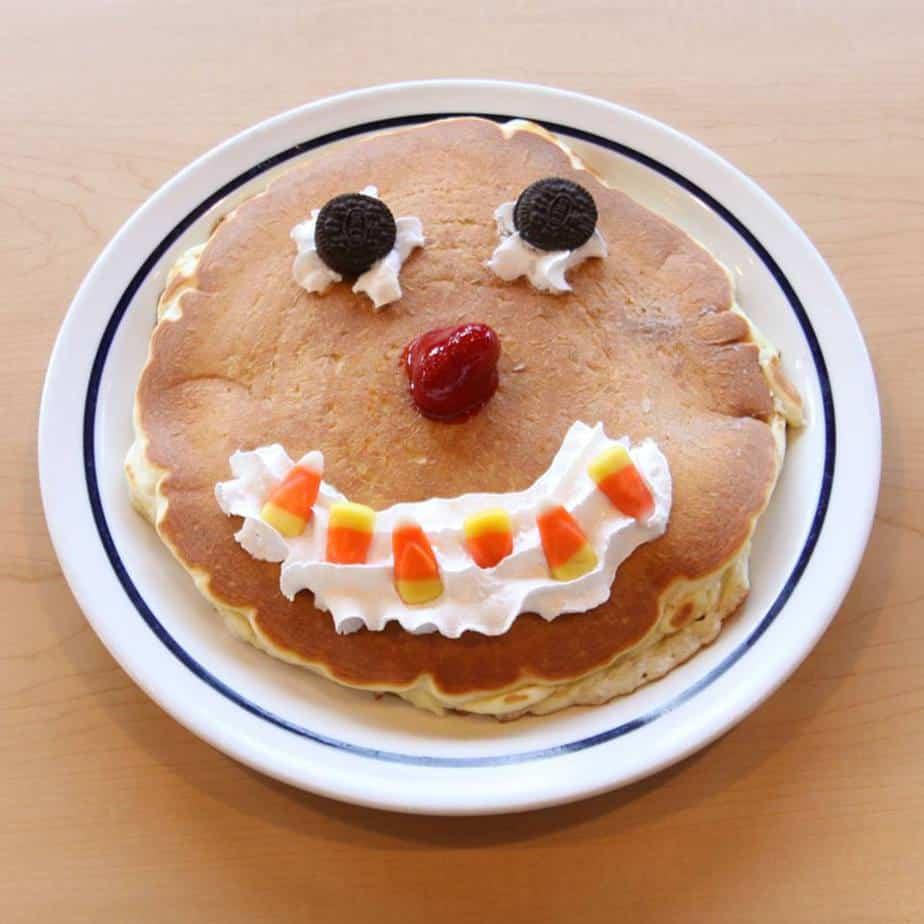 Ihop Free Pancakes Halloween  IHOP Free 'Scary Face' pancake for kids on Oct 31