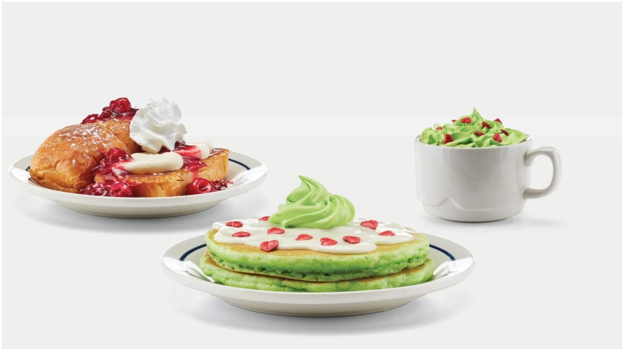 Ihop Halloween Free Pancakes 2019  IHOP s Grinch Inspired Menu Looks Ridiculously Delicious