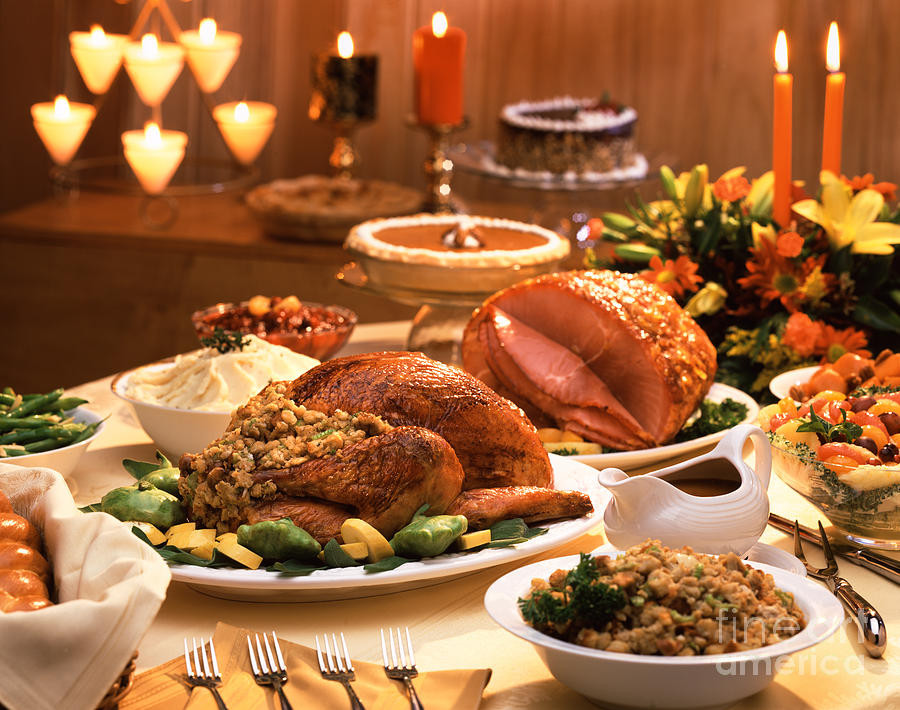 Images Of Thanksgiving Dinners  Thanksgiving Dinner graph by Vance Fox