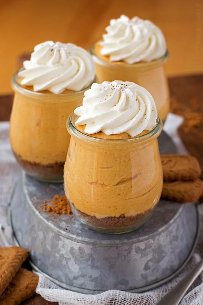 Individual Thanksgiving Desserts  Simple No Bake Thanksgiving Desserts Because Who Has the