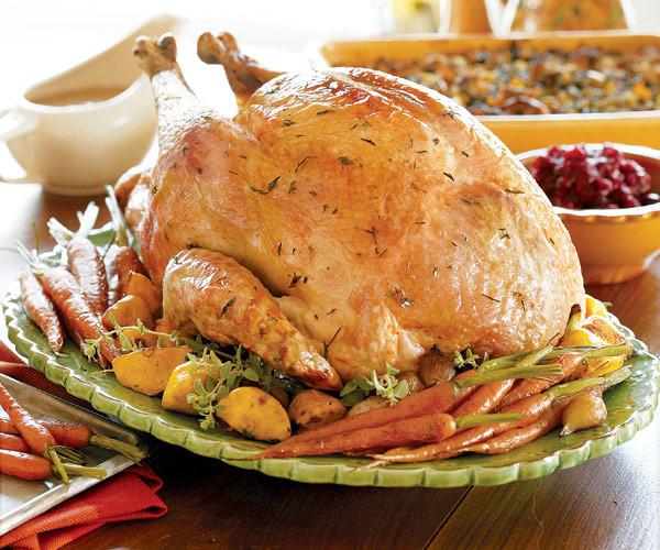 Ingredients For Thanksgiving Turkey  Juicy Roast Turkey Recipe FineCooking
