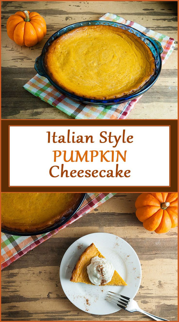 Italian Thanksgiving Desserts  Italian Style Pumpkin Cheesecake Recipe