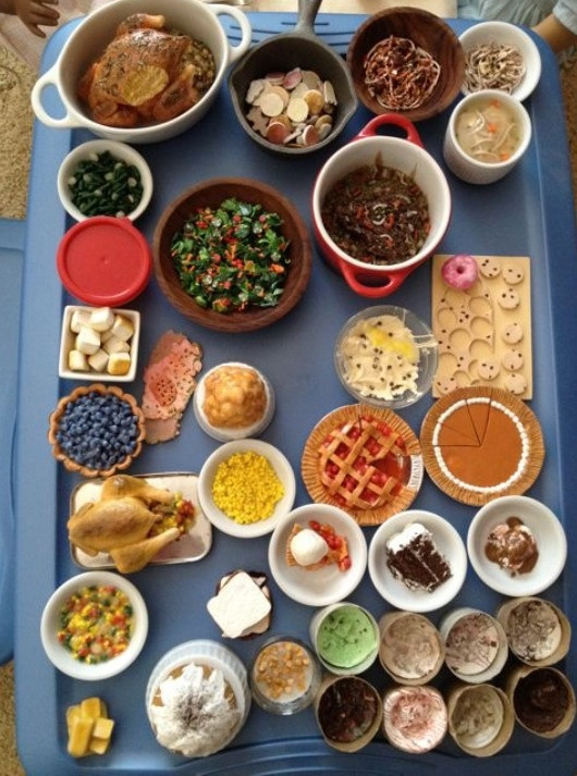 Jewel Thanksgiving Dinner  17 Best images about Thanksgiving in Miniature on