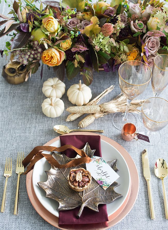 Jewel Thanksgiving Dinner  Copper and Jewel Tone Thanksgiving Party