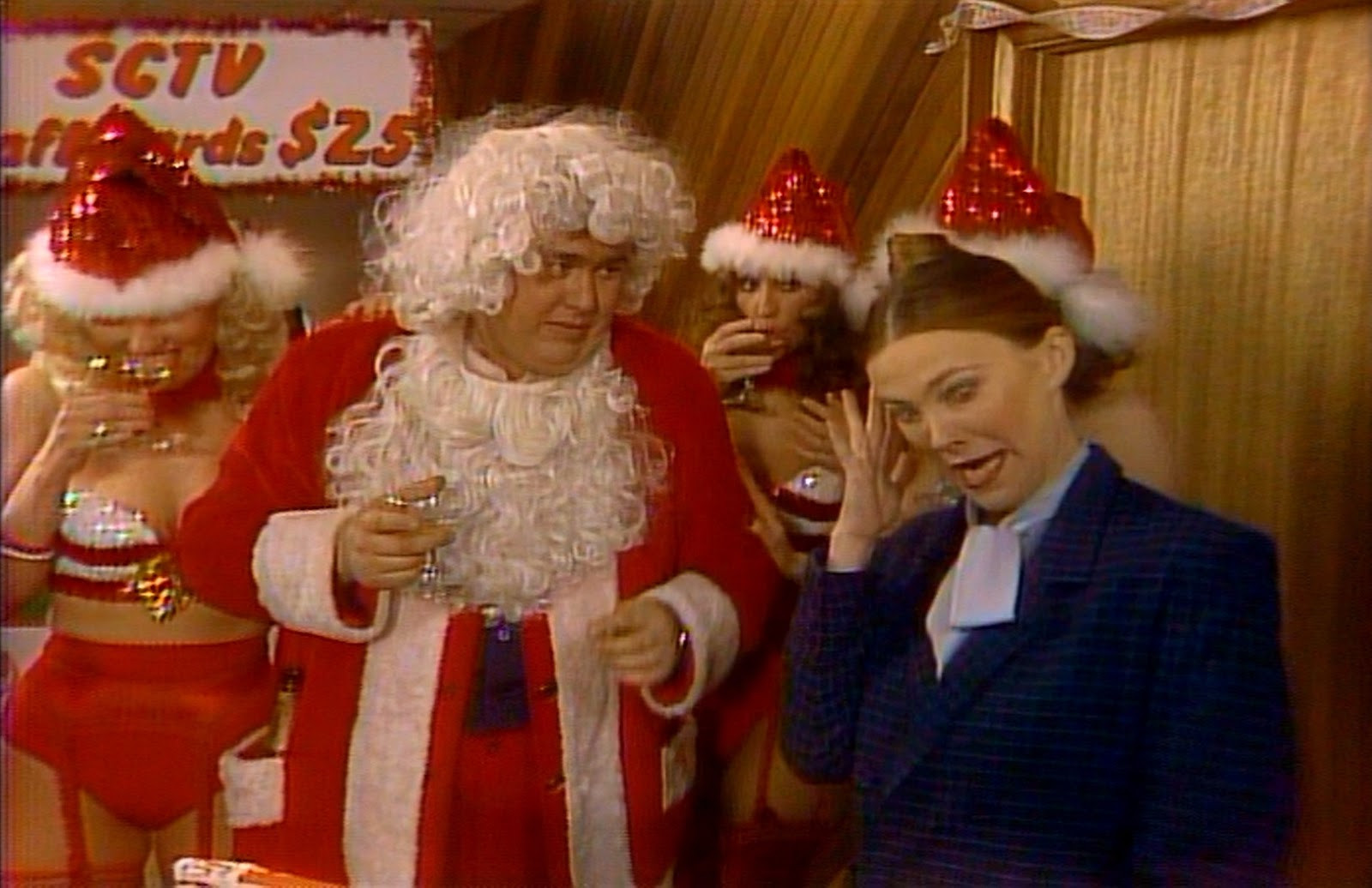 "John Candy Christmas Movie  Holiday Reviews SCTV ""Staff Christmas Party"""