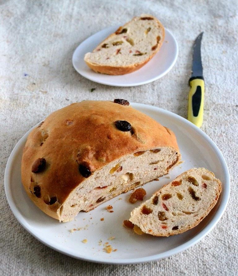 Julekake Norwegian Christmas Bread Recipe  Eggless Julekake – Norwegian Christmas Bread – Gayathri s