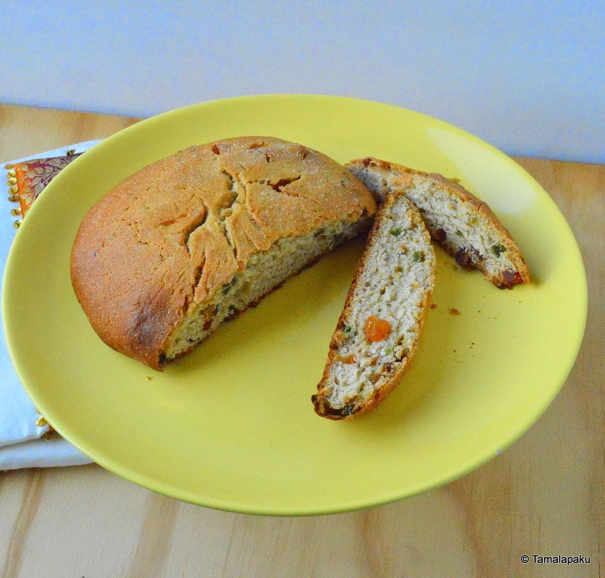 Julekake Norwegian Christmas Bread Recipe  Julekake Eggless Norwegian Christmas Bread Tamalapaku