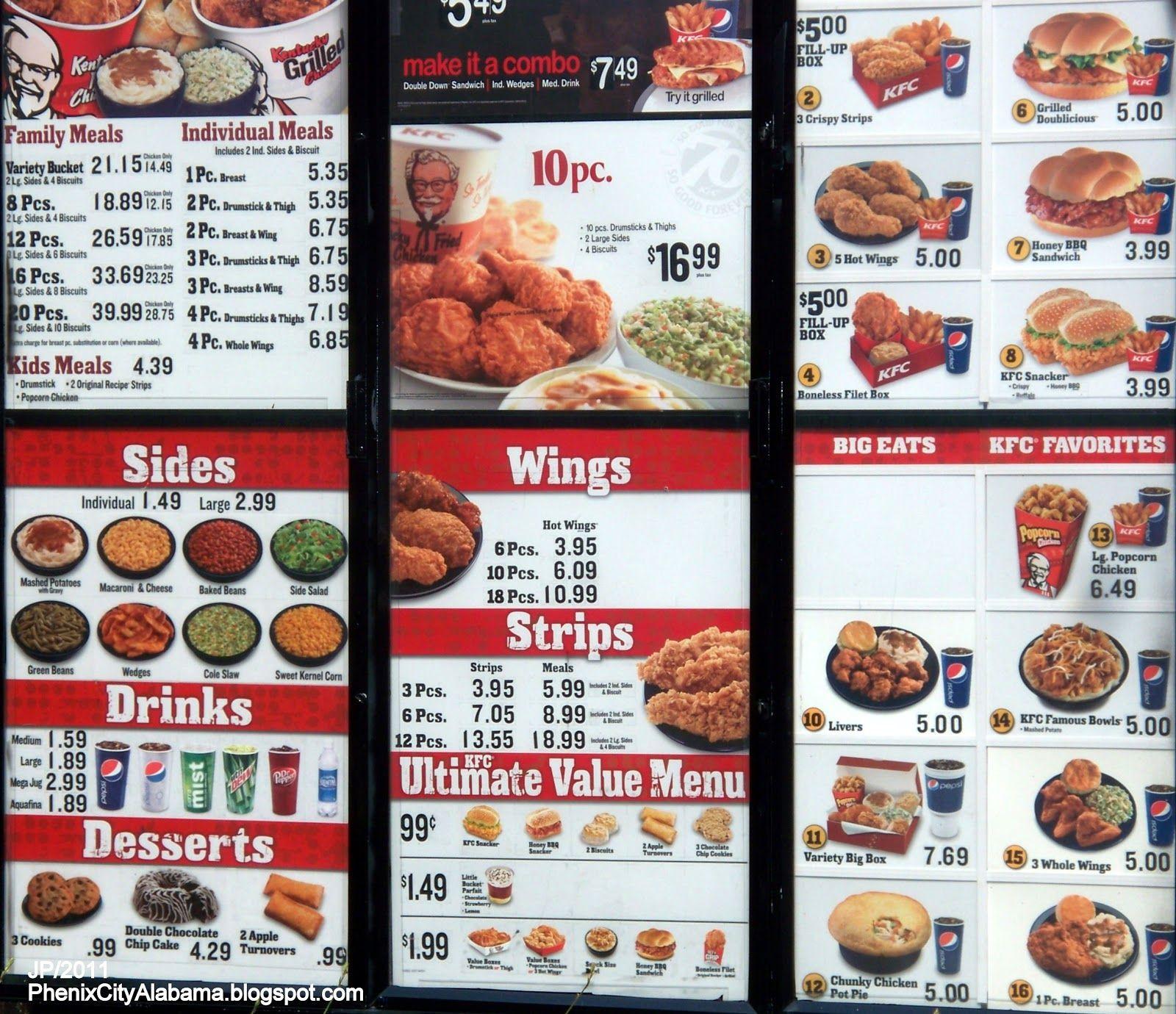 Kfc Thanksgiving Turkey  KFC Menu Prices 2015 Deep Fried Foods