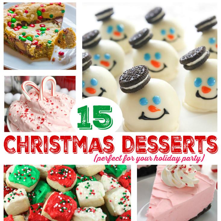 Kids Christmas Desserts  15 Delicious Christmas Party Dessert Ideas Mommy s Bundle